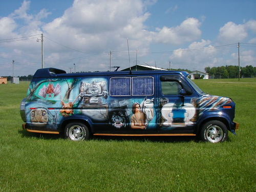 That's right - a Never Ending Story van. The other side has the sequel.